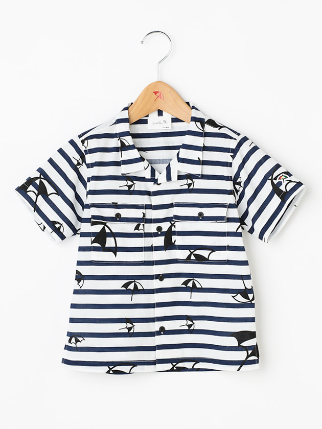 ロゴプリントオープンカラーシャツ(Kid's)