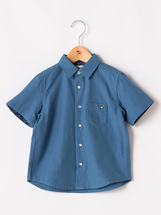 ドビー×パナマチェック半袖シャツ(Kid's)
