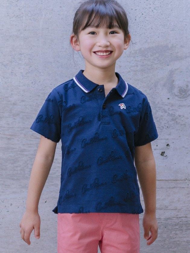 パイルロゴジャカードポロシャツ(Kid's)