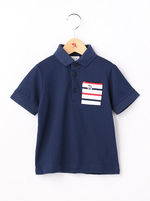 【吸水速乾】ボーダーポケットポロシャツ(Kid's)