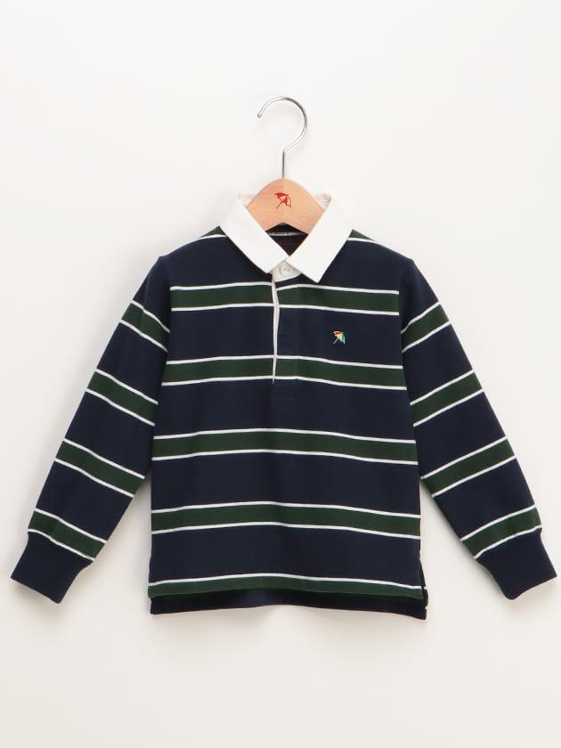 【ファミリー展開】ボーダーラガーポロシャツ(KID'S)