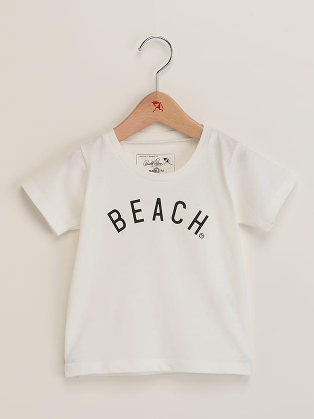 キッズリゾートモチーフロゴプリントTシャツ