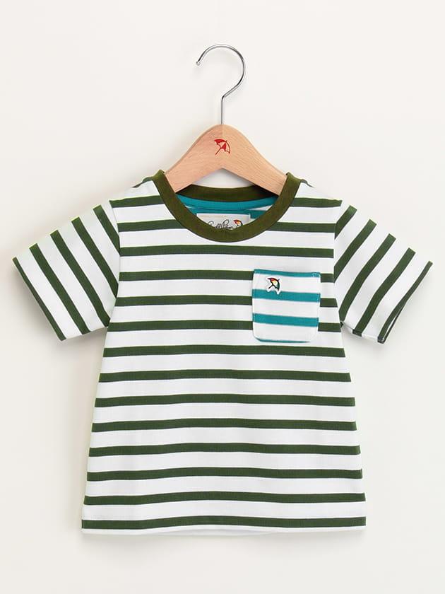 キッズプレーティングボーダーTシャツ