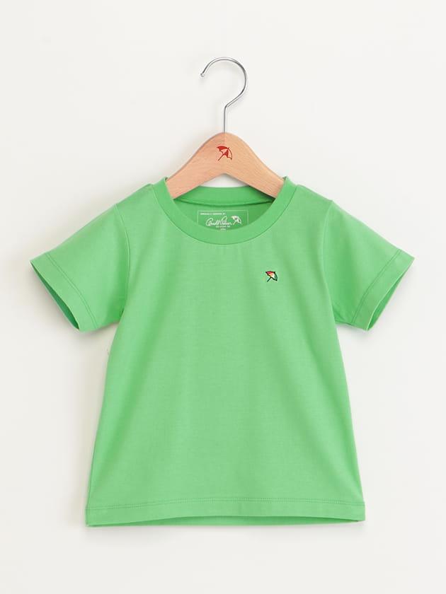 キッズバッグロゴプリントネオンカラーTシャツ