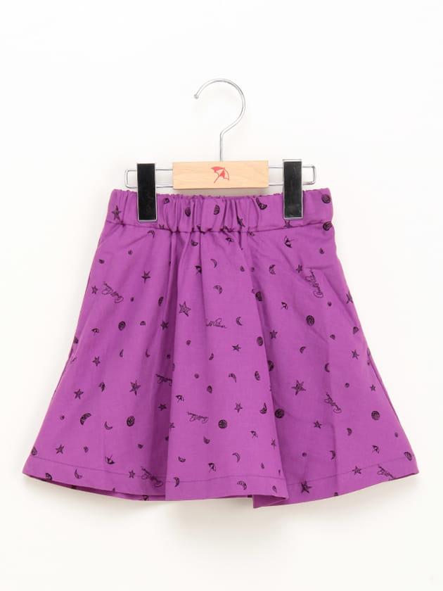 キッズスター×ムーンプリントスカート
