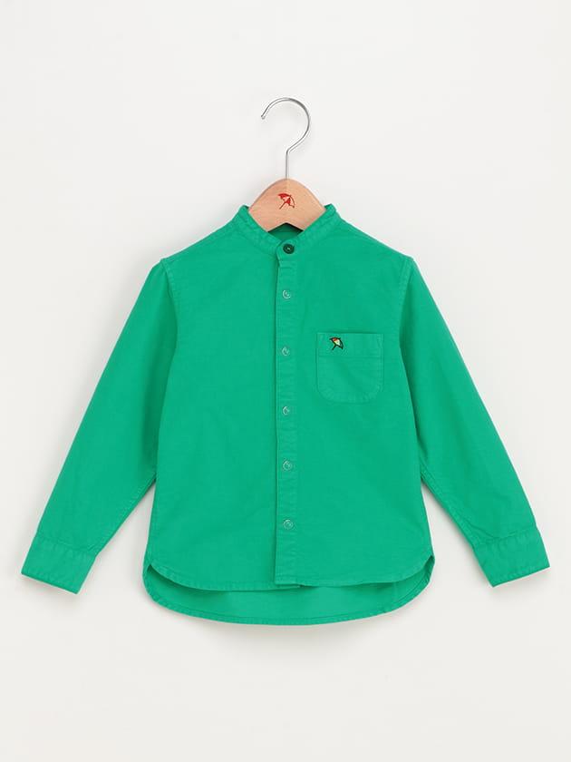 【シェアルック】ノーカラー起毛オックスシャツ(kid's)