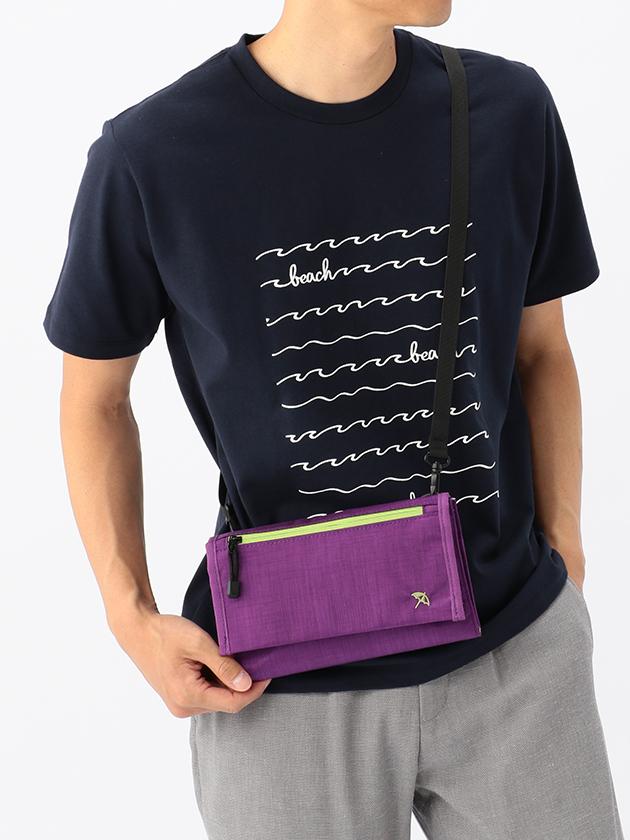 撥水機能付きカサ刺繍ショルダーバッグ