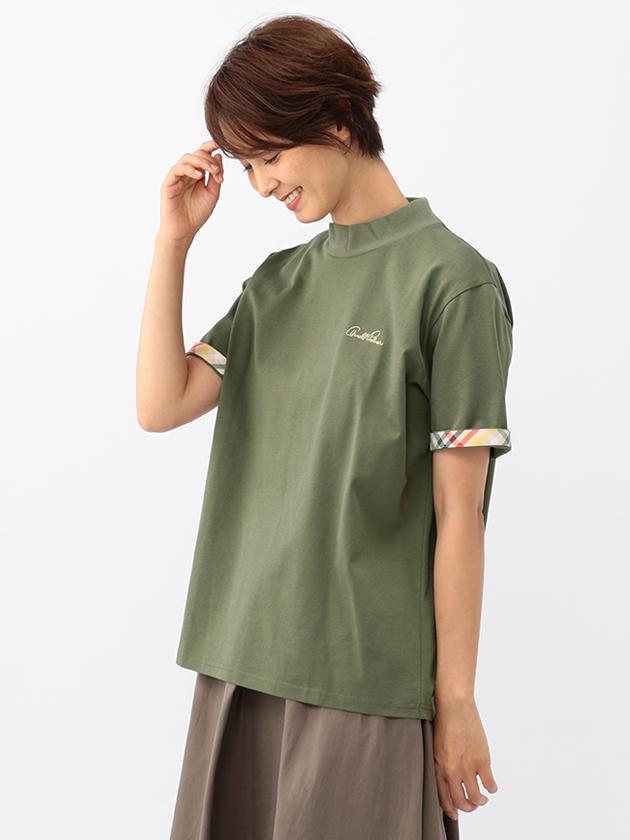 【WEB・一部店舗限定】ハウスチェック使いハイネックTシャツ