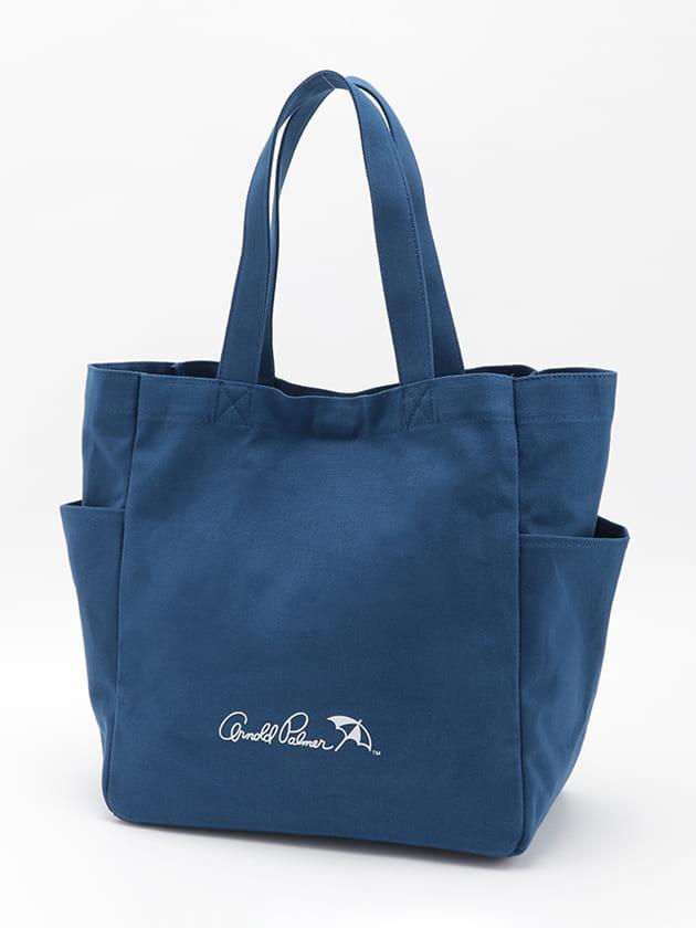 【WEB限定】【シェアルック】ロゴプリントサイドポケットキャンバストートバッグ