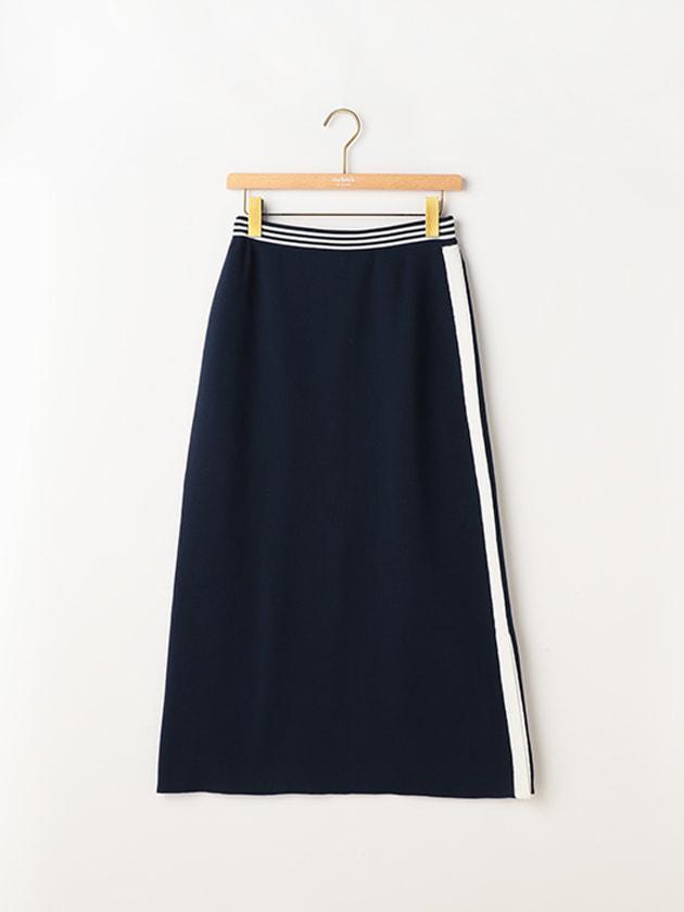 【セットアップ】ライン入りニットスカート
