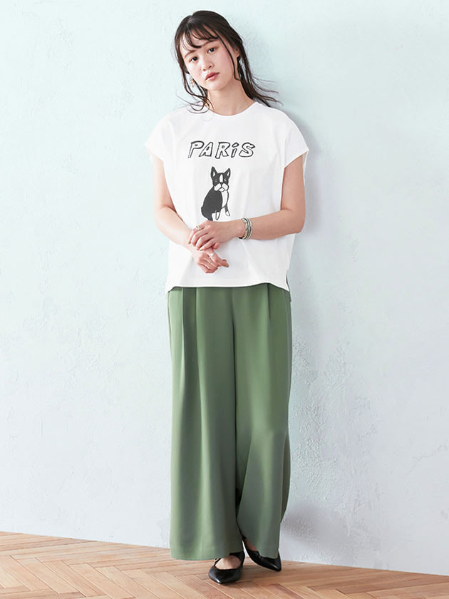 【WEB・一部店舗限定】DOG×PARISプリントTシャツ