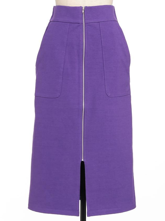 フロントジップジャージタイトスカート