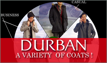 2014-15 Winter D'URBAN VARIETY OF COATS!