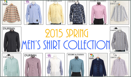 Men's Shirts COLLECTION 2015SPRING