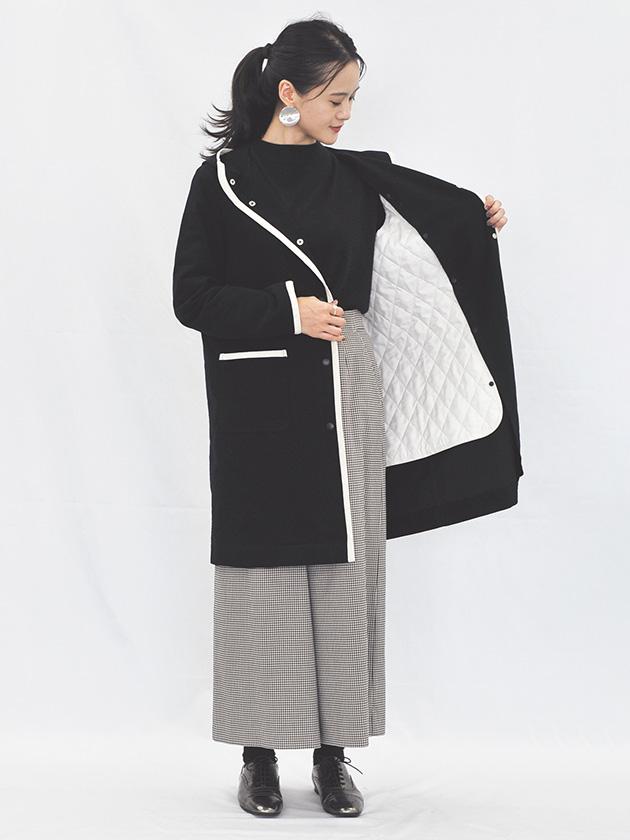 中綿パイピングコート