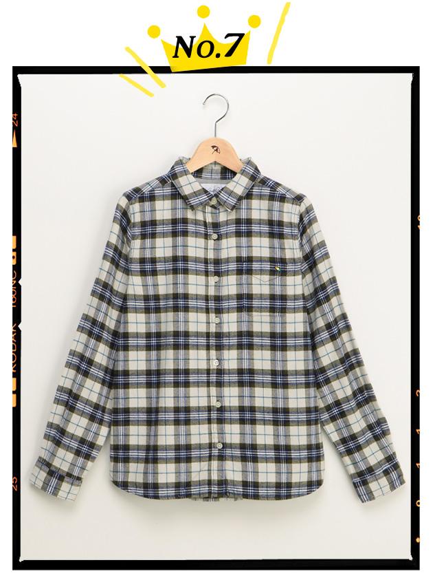 【ファミリー展開】タータンチェック柄フランネルシャツ