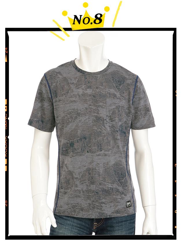 【SIMPLE LIFE×snコラボ】総柄プリントTシャツ