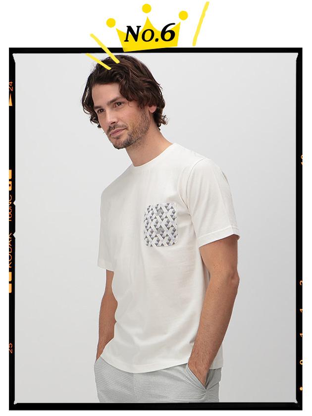 【SNOOPY】ジオメトリック柄ポケットTシャツ