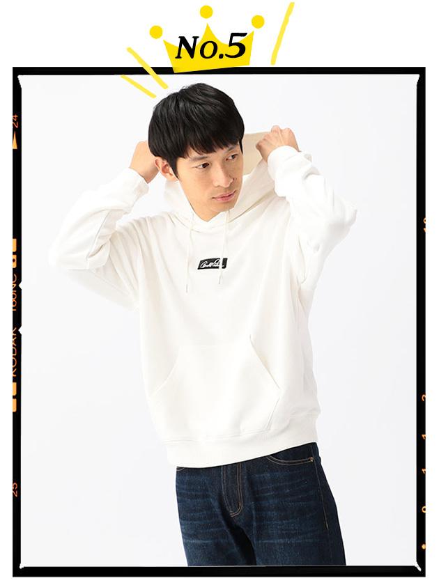 【WEB限定・一部店舗限定】プレートロゴ刺繍プルオーバーパーカー(Men's)